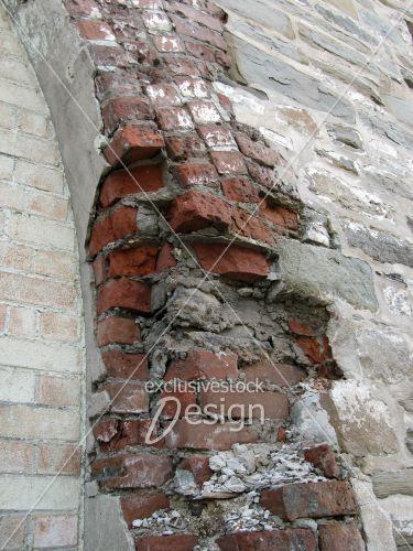 Arche briques usées brisées