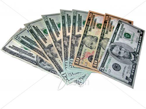 Argent américain billets cinq vingt dollars