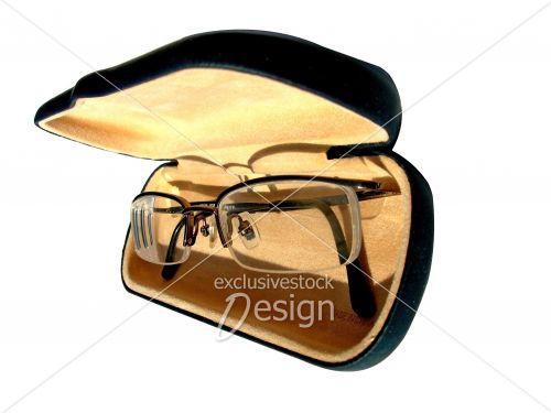 Boitier lunette contenants monture verres