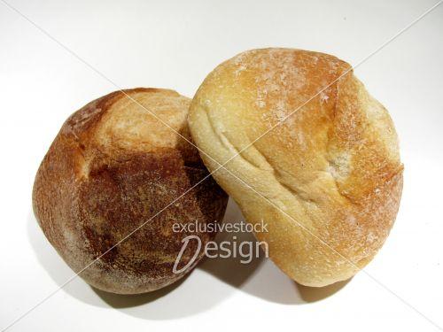 Boules pain dessus autre