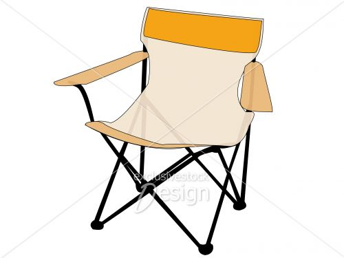 Stock image outdoor camping chair orange transparent exclusive stock design - Chaise exterieure design ...