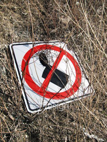 Enseigne interdiction jeter déchets espaces verts