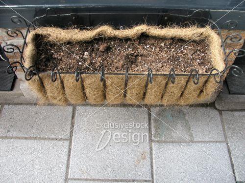 Espace plante foin ornement métal