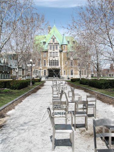 Immeuble gouvernemental québec allée chaises