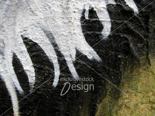 banque d 39 image lignes de peinture blanche sur mur. Black Bedroom Furniture Sets. Home Design Ideas