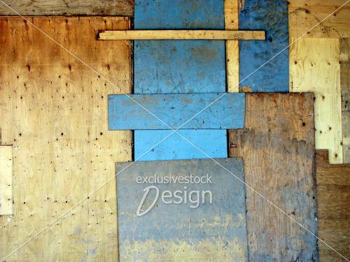 Montage planche bois superposées