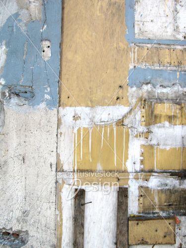 Montage planches bois peinture béton