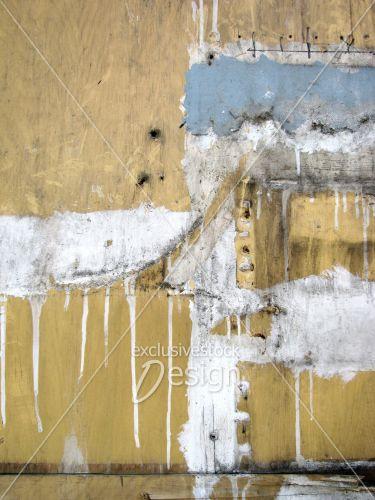Montage planches bois trouées peinture