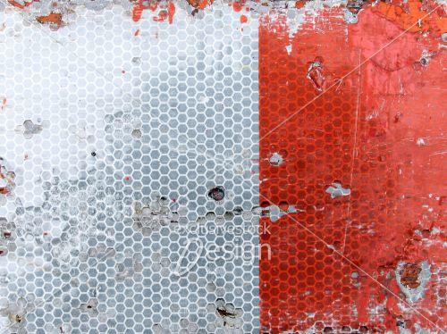Panneau métal signalisation carreaux hexagonaux