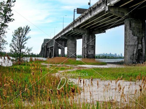Paysage pont jacques cartier ville montréal fleuve