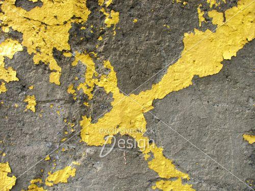 Banque d 39 image peinture jaune en forme de x sur b ton for Forme peinture