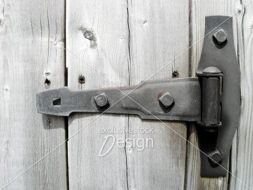 Banque d 39 image penture unique sur bois p le exclusive - Penture porte lourde ...
