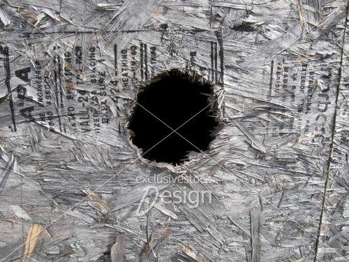 Ply wood écriture enfoncé