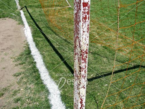 Poteau soccer coté but