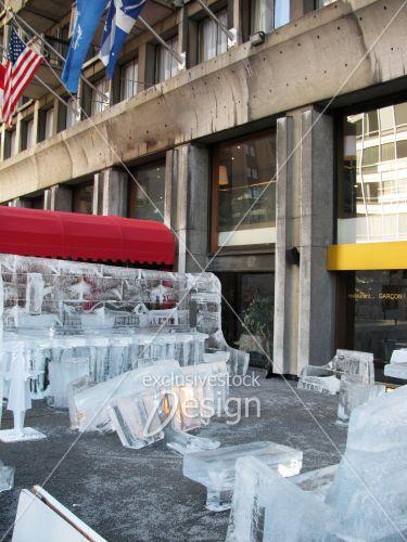 Structure glace resto bar montréal