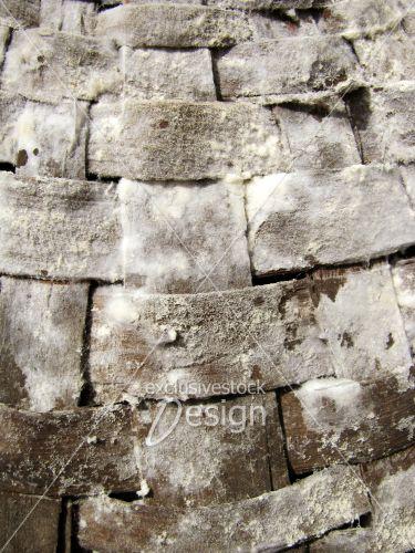 Texture osier bois tissés carrés mousse