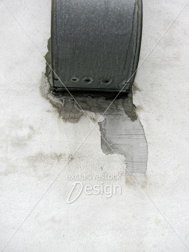 Évacuateur air mur délabré fissuré